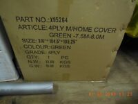 Brand New Motorhome / Caravan 7.5/8.0 metre cover, green 4 ply, sealed box, never used, £90.