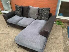 Grey & Black corner sofa delivery 🚚 sofa couch furniture