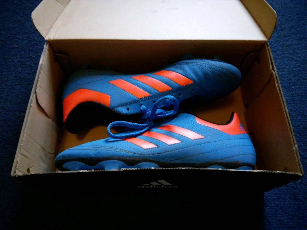 Adidas Goletto VI Firm Ground Men s Football Boots - Size 8 (shock blue) +  FREE Socks b82ca7a4e7b