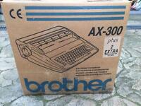 Brother electronic typewriter model AX-300
