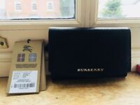 100% genuine Burberry black patent leather purse