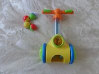 Tomy Pic' 'N' Pop Play to Learn Push Along Toy Baby Walker with 4 balls