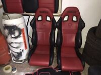 Sparco Front Bucket Seats And Matching Coupe Rear Bench CUSTOM