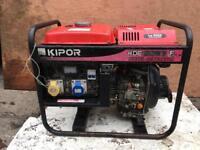 Diesel generator 110 & 240v kipor KDE 2200 E like new