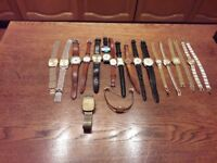 Job lot of watches, some vintage, some working, some new