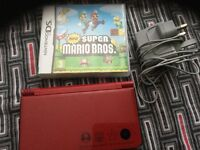 Dsi XL Mario edition and game
