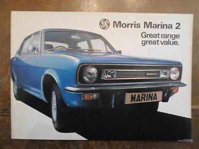MORRIS MARINA 2 RANGE 1977 UK Mkt Sales Brochure - 3160/C