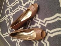 Wedge highheel shoes from payless