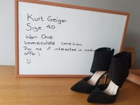 Kurt Geiger shoes immaculate condition. Also a pair of kids kickers size 12 never been worn.