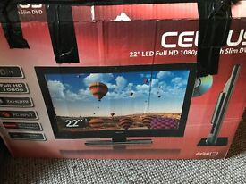 Celcus tv with built in DVD - 22'' LED Full HD 1080p with slim DVD