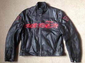 Dainese men's motorcycle leather jacket