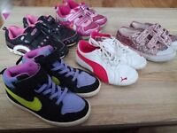 Bundle of girl shoes/boots size 9-13