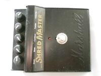 Marshall Shred master stompbox/pedal/effects unit for electric guitar - England - 90s - Vintage