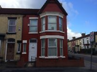 3 bed end terrace in wavertree, L15 3HW, GCH, DG, UNFURN, FIT KIT, great location