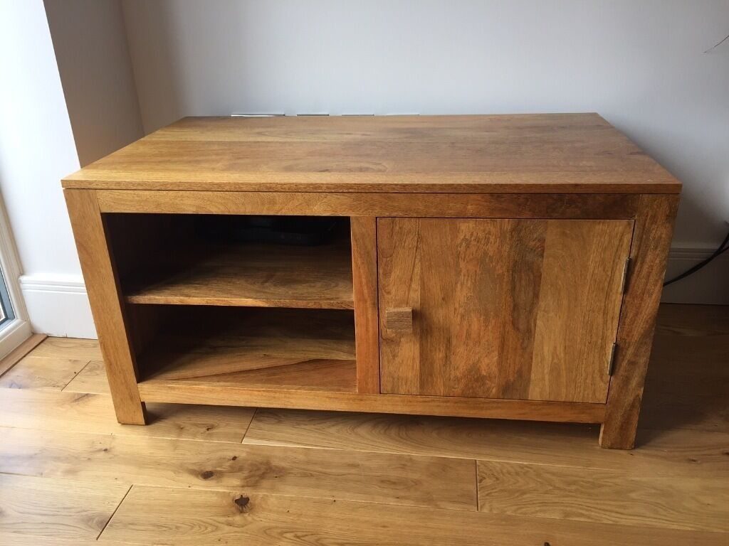 Oak Furniture Land Mantis Light Natural Solid Mango Coffee Table And Large Tv Unit