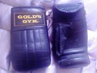 Gold's Gym Black Boxing Gloves