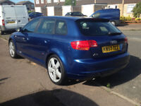 Audi A3 2.0TDI 140 PD Sline,Leather,cruise,Dual AC,FSH,MOT,Turbo + cambelt in 2015 + lots of extras