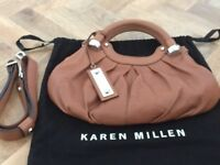 Karen Millen Brown Leather Bag (Excellent Condition)
