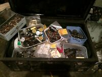 Ammo box full of radio and TVs bits