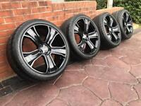 """22"""" Range Rover SVR Discovery Refurbished Stormer 2 Alloy Wheels & Tyre 5x120"""