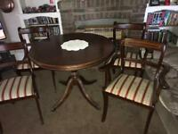 Dark wool table and chairs nice condition £60