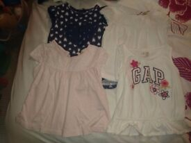 Mega Bundle of 14 beautiful tops & tshirts, sizes 12-18/18-24 months, very good condition