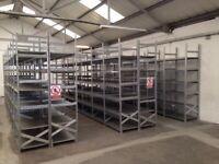 JOB LOT 50 bays of supershelf industrial shelving 600mm deep ( storage , pallet racking )