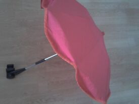 Mothercare sun canopy / parasol. Comes with Adapter/universal clip included