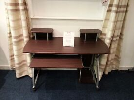 Dark Brown Desk With Keyboard Tray Ex Display Model