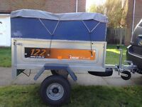 Awesome Car Trailer with Extention and Rain Cover