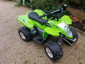12v Kawasaki ATV Ride On Quad Bike Green