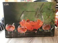 Beautiful LSA glass rum punch set