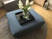 LARGE BLUE POUFFE