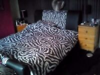 **Kingsize faux leather bed for sale **
