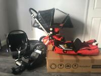 Bugaboo Cameleon 2 with Maxi cosi car seat and Isofix.