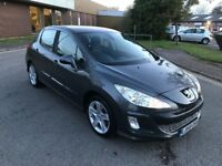 2009 Peugeot 308 1.6 hdi 12 months mot/3 months parts and labour warranty