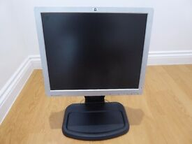 "HP Compaq 17"" Flat Screen Monitor & adjustable stand"