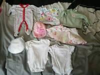 Baby clothes hat vest skirt top babygrow