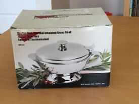 Brand new Grunwerg Thermal Insulated Stainless Steel Gravy Boat