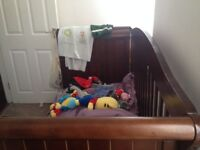 Cot bed up to 6 years and highchair Free!
