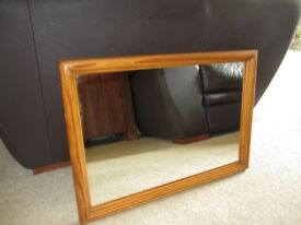Wooden Framed Wall Mirror for sale. For collection in Romford, Essex - £7.50