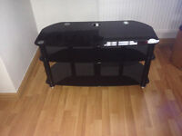 Black glass TV stand for sale