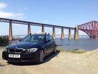BMW 320d M-Sport, low mileage, black metallic, leather interior