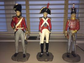 3 Military resin figures