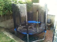 6 ft Trampoline With Stairs, Net, Cover In Excellent Condition