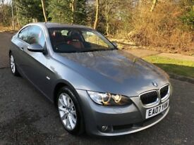 BMW 330CI SE AUTOMATIC 07 REG IN GREY METALLIC, LEATHER TRIM,ONLY 60,000 MILES AND SERVICE HISTORY