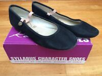 Dance shoes-black character shoes size 13