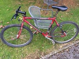 Carbon fibre mountain bike frame