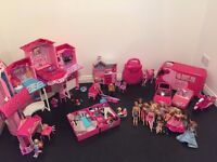 Barbie Bundle (Townhouse, mobile home, ski resort, cars etc.) will sell altogether or individually.