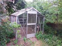 FREE aluminium greenhouse, 2m x 2.5m, buyer to collect
